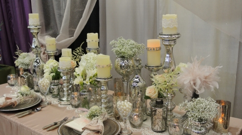 gusto & grace: Star-Telegram Bridal Show Mercury Glass Tablescape