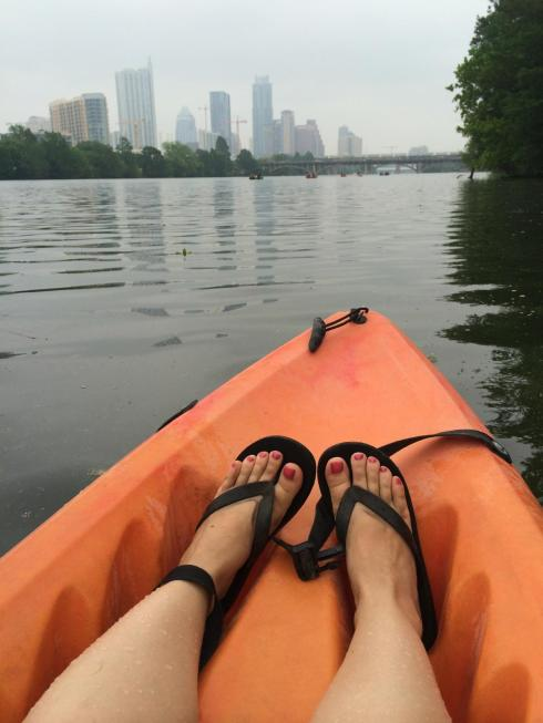 Kayaking Lady Bird Lake Austin | www.gustoandgraceblog.com